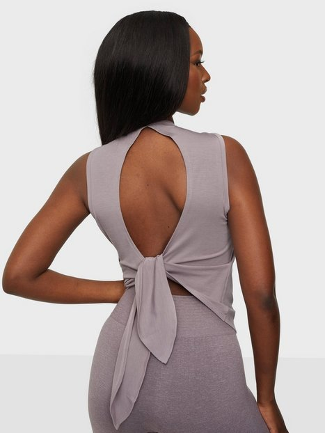 ICANIWILL Empowering Open Back Tank Loose fit toppe Mauve
