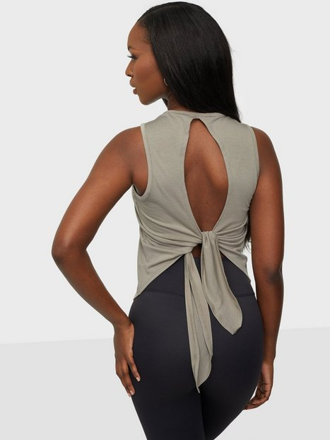 ICANIWILL Empowering Open Back Tank Loose fit toppe Greige