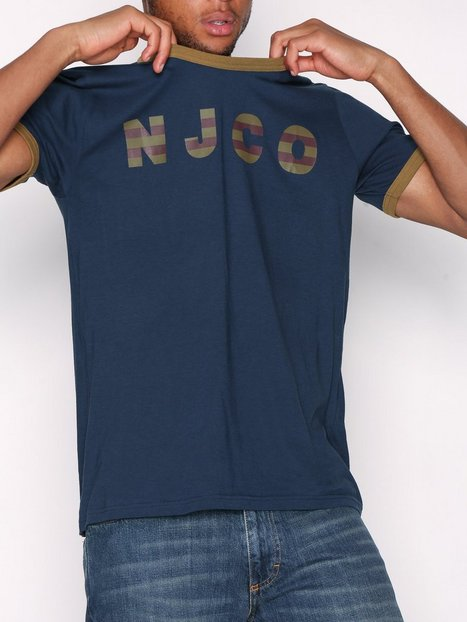 Nudie Jeans Kurt NJCO Stripes T shirts undertrøjer Blå - herre