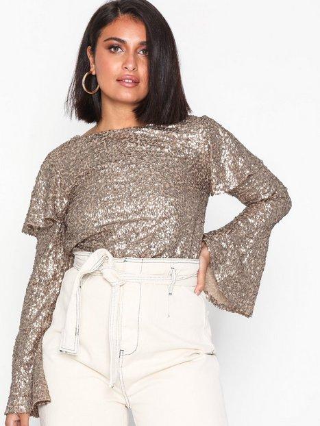 NLY Trend Wrap Jacquard Blouse Festbluser   Skjorter  