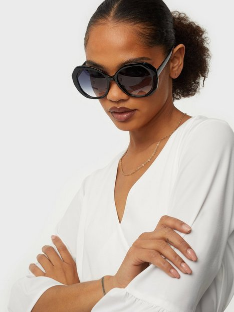 NLY Accessories Hexagon Vintage Sunnies Solbriller Sort