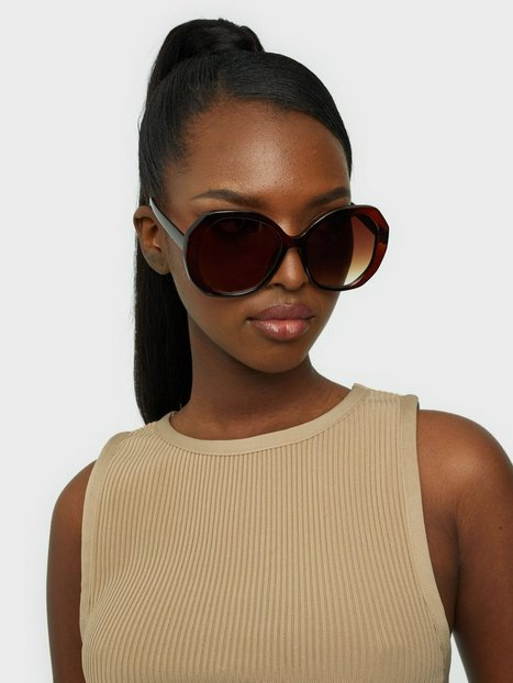 NLY Accessories Hexagon Vintage Sunnies Solbriller Brun