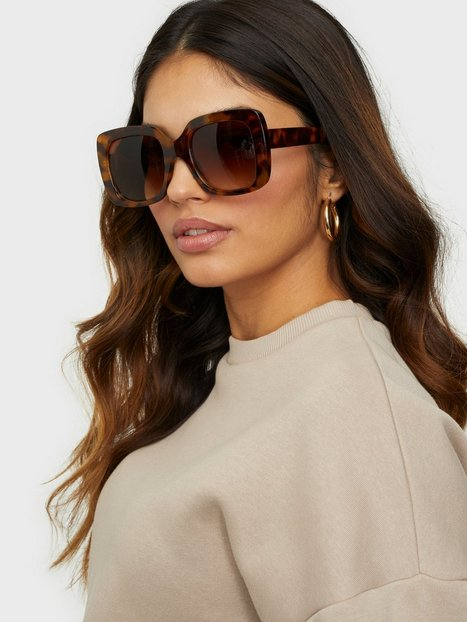 NLY Accessories Oversized Frames Sunnies Solbriller Brun