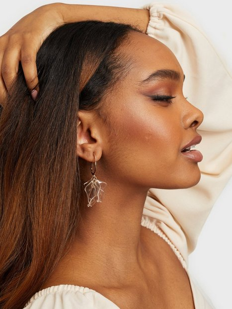 NLY Accessories Clear Petals Earring Øreringe