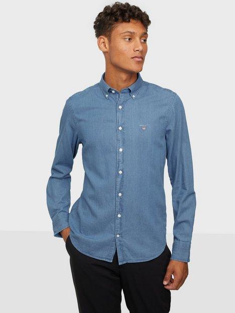 Gant The Indigo Slim Bd Skjorter Blue