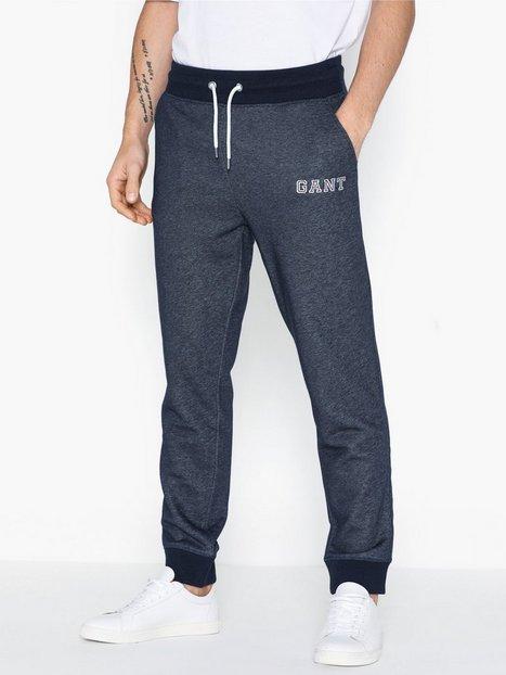 Gant D1. Graphic Jersey Pants Bukser Dark Navy mand køb billigt