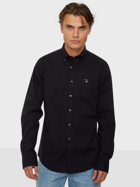 Gant The Broadcloth Slim Bd Skjorter Black