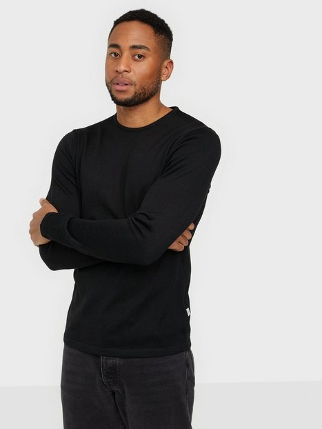 Casual Friday Kent Merino Crew Neck Knit Trøjer Black