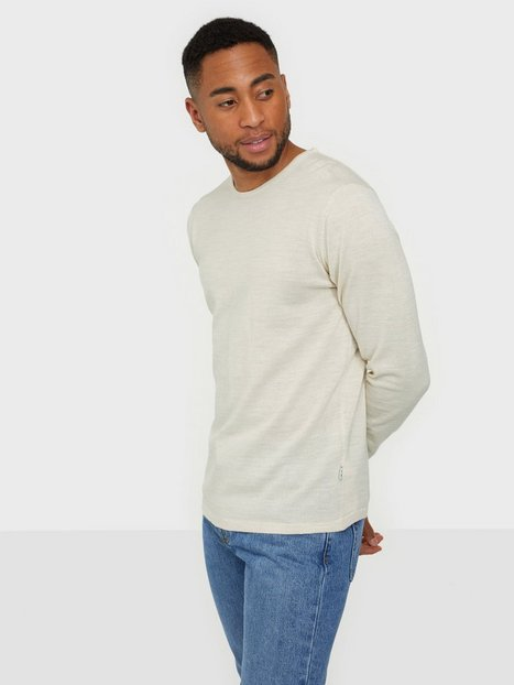 Casual Friday Kent Merino Crew Neck Knit Trøjer Light Sand