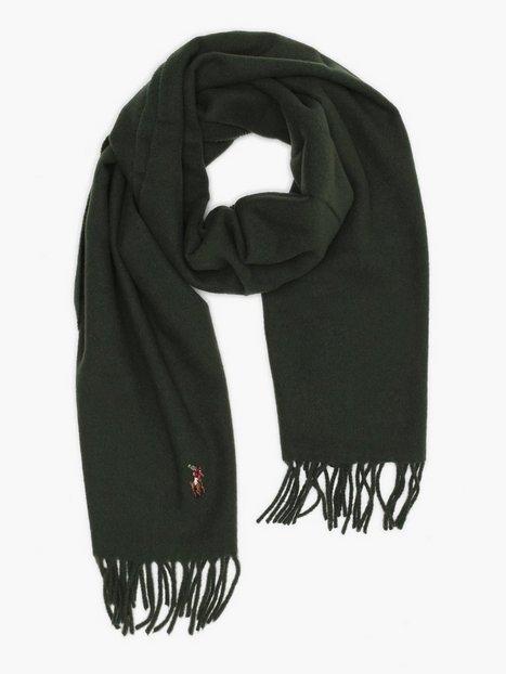 Polo Ralph Lauren Sign Italian Oblong Scarf Halstørklæder scarves Olive - herre