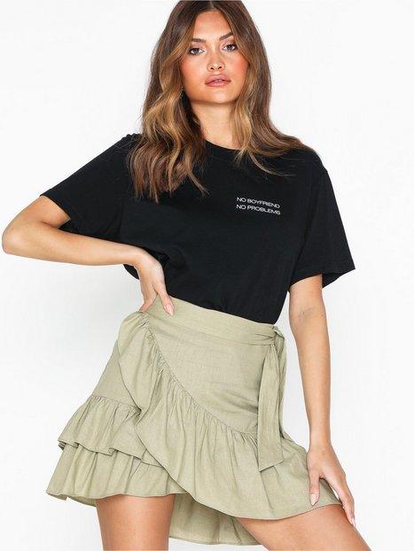 Billede af Topshop Sage Linen Wrap Skirt Mini nederdele