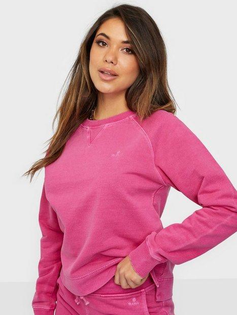 Gant D2. Sunfaded C-Neck Sweat Sweatshirts Pink