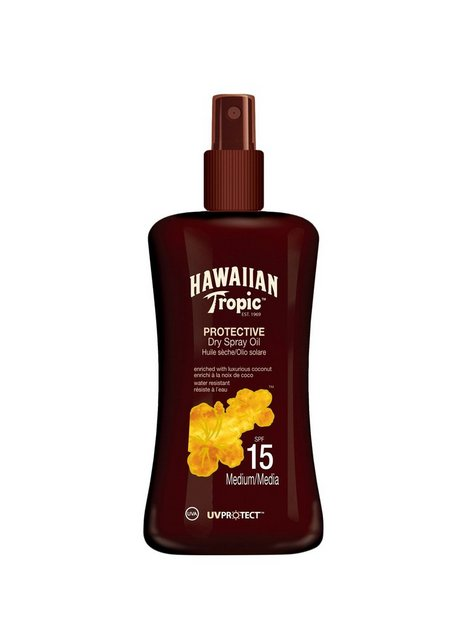 Hawaiian Tropic Protective Dry Spray Oil SPF 15 200 ml Solcremer
