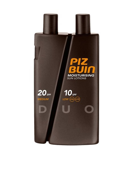 Piz Buin Moisturizing Sun Lotion DUO spf 10 20 300ml Solprodukter Transparent - herre