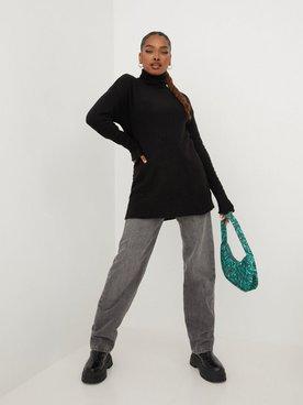 Köp NLY Trend Long Roll Neck Sweater Svart | Tröjor