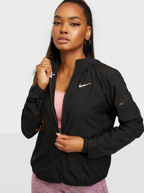 Nike W Nk Imp Lght Jkt Hd Træningsjakker Black