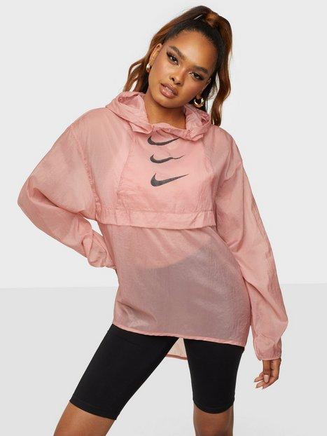 Nike W Nk Run Dvn Po Pckbl Jkt Træningsjakker Pink