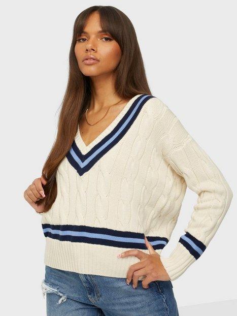 Polo Ralph Lauren Ls Vn Crckt-Classic-Long Sleeve-Sweater Strikkede trøjer