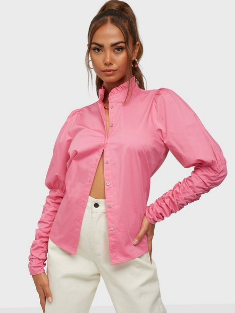 Co'couture Sandy Poplin Puff Shirt Skjorter Pink