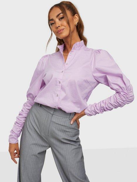 Co'couture Sandy Poplin Puff Shirt Skjorter Purple