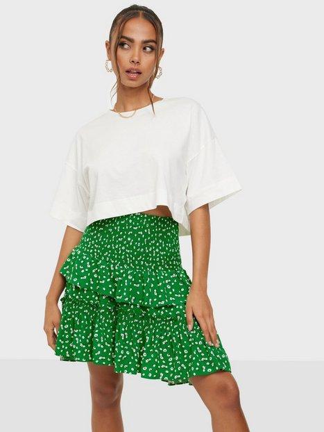 Co'couture Green Flower Smock Skirt Mini nederdele