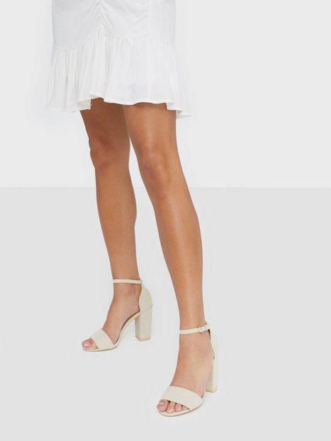 NLY Shoes Block Heel Sandal High Heel Beige