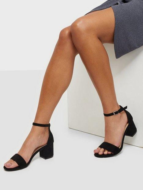 NLY Shoes Low Block Heel Sandal Low Heel Sort