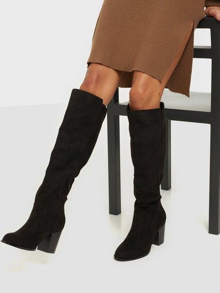 Block Knee High Boot