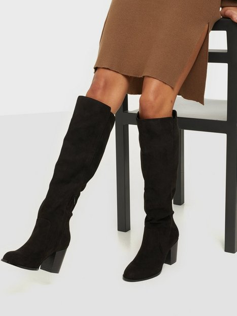 NLY Shoes Block Knee High Boot Knee-high