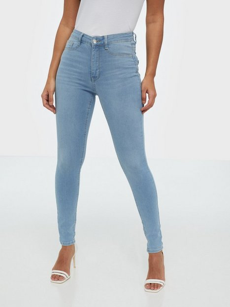 Gina Tricot Molly High Waist Jeans Skinny fit Light Blue