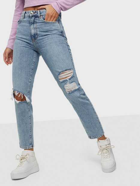 Gina Tricot Dagny Mom Jeans Slim fit Ocean