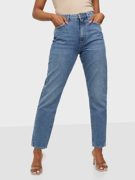 Gina Tricot Dagny Mom Jeans Slim fit Mid Blue
