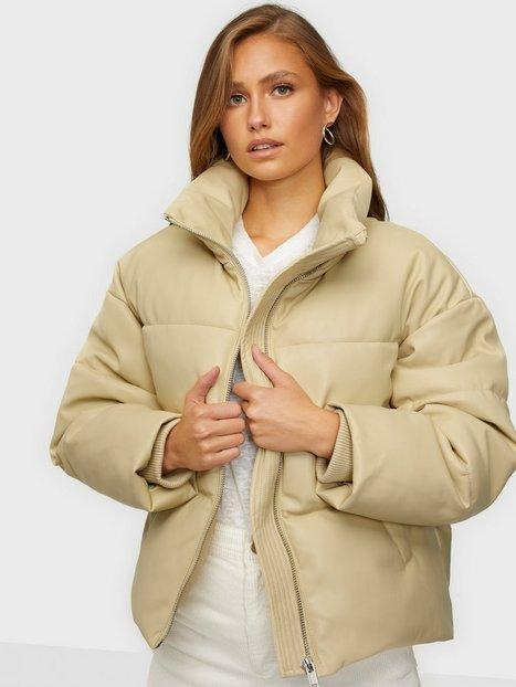 Gina Tricot Kit PU Puffer Jacket Dunjakker Grey