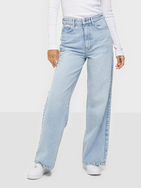 Gina Tricot Idun Wide Jeans Bleach Acid Wash