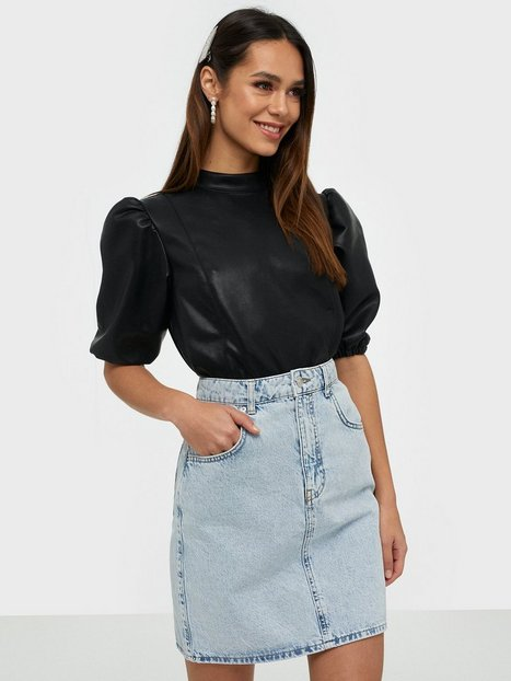 Gina Tricot Mom Denim Skirt Lys blå