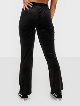 Shoppa Gina Tricot Cecilia Velour Trousers Black