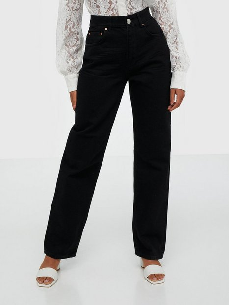 Gina Tricot The 90s Hi Waist Jeans Straight fit Black