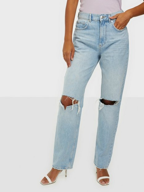 Gina Tricot The 90s Hi Waist Jeans Light Blue