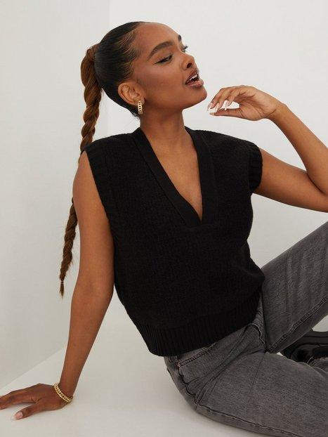 Gina Tricot Abigail Knitted Vest Strikveste Black