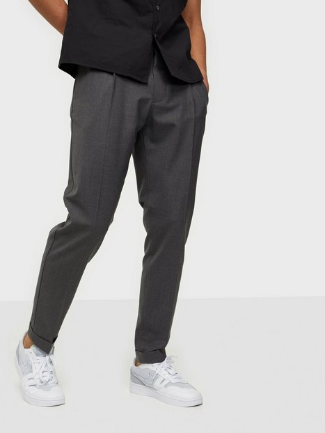 J Lindeberg Sasha DS Pleated Pants Bukser Grey Melange
