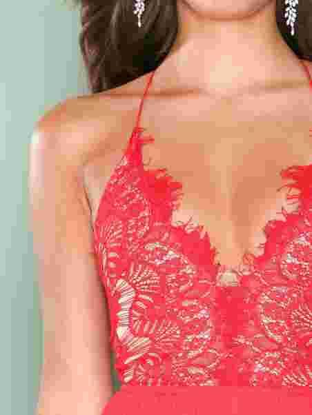 Body Lace Thin Strap Dress, Rare London
