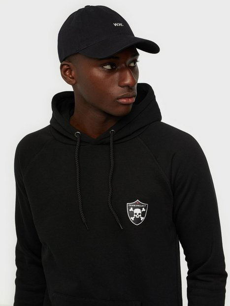 Denim Project Skull Hoodie Trøjer Black