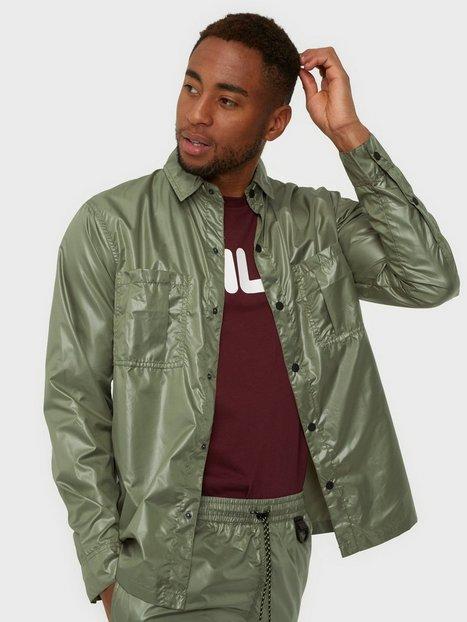 Denim Project Parachute Overshirt Skjorter Green