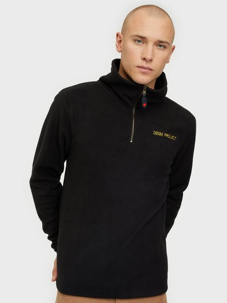 Denim Project Petit Zip Fleece Trøjer Black