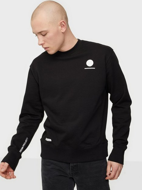 Denim Project Horizon Logo Organic Crewneck Trøjer Black