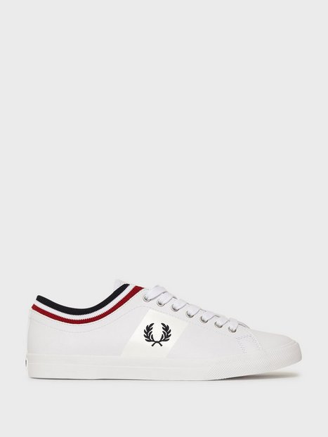Fred Perry Unders. Tip. Cuff Lthr Sneakers White - herre