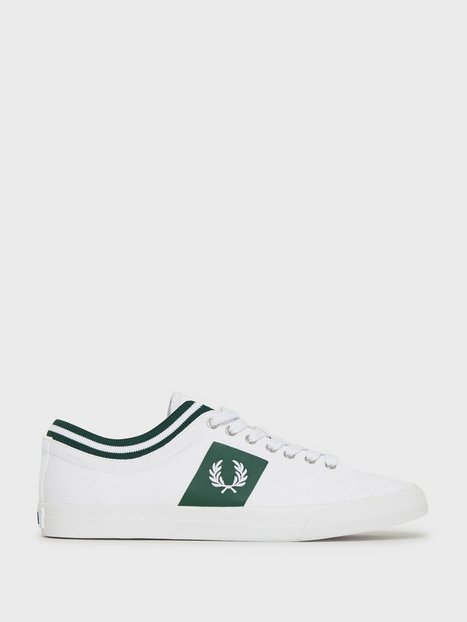 Fred Perry Unders. Tip. Cuff Twill Sneakers White mand køb billigt