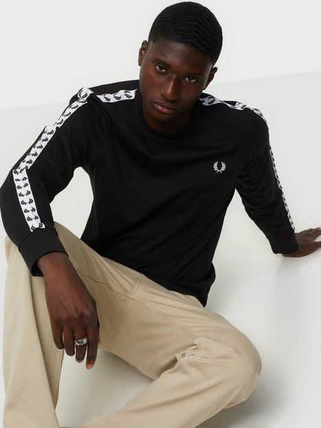 Fred Perry Taped L/S T-Shirt Trøjer Black