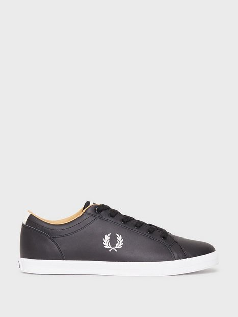 Fred Perry Baseline Leather Sneakers Black