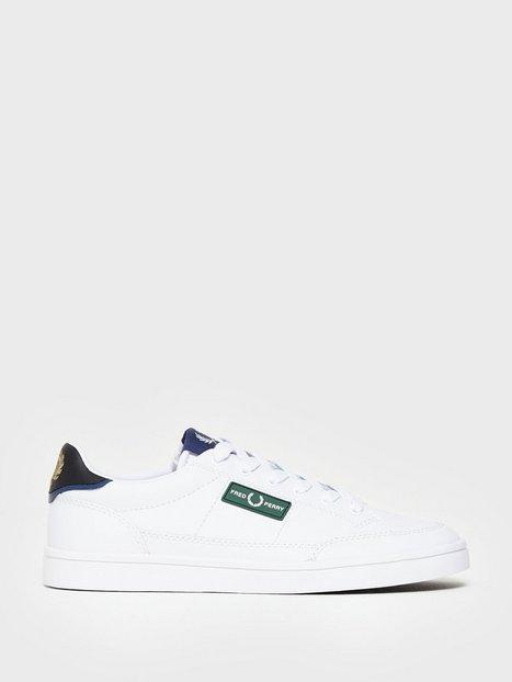 Fred Perry Deuce Lthr Branding Sneakers White - herre